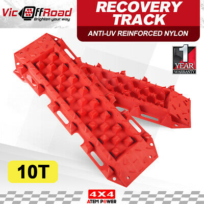 Pair 10T Recovery Tracks Sand Track Snow Mud Offroad 4x4 4WD Trax Red