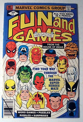 Fun and Games #1 Bronze Age Marvel Comic Book 1979 FN