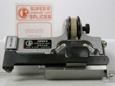 Professional CATOZZO SUPER-8 FILM SPLICER W/Splicing Tape and Instructions Nice!