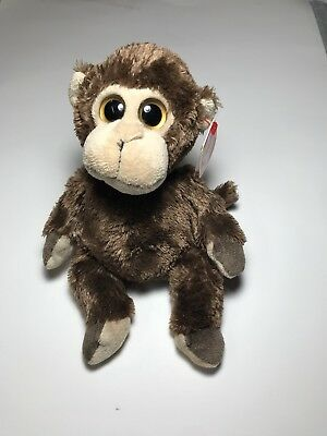 """Ty Beanie Babies """"Vines"""" The Monkey 2014 Large Eyes With Tags!"""