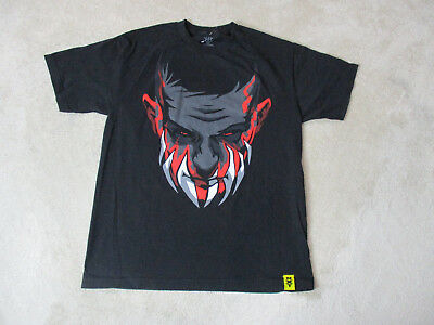 WWE Finn Balor Shirt Adult Large Black Red WWF NXT Wrestler Wrestling Mens