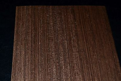 Wenge Raw Wood Veneer Sheets 6 x 45 inches 1/42nd thick               E8247-1