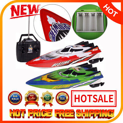 Kids Remote Control Boats Electric RC Super Speed Boat High Performance Toy FK
