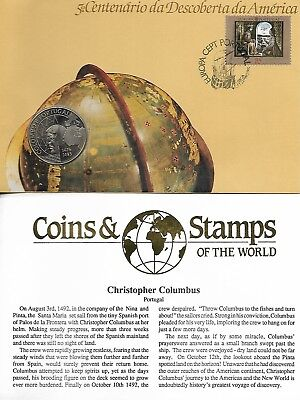 Portugal 1992 Columbus Anniversary Coin Cover