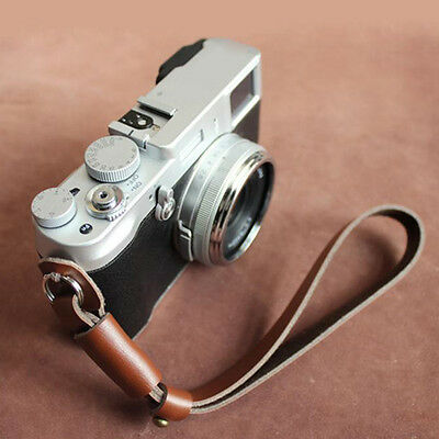 Leather SLR Camera Wrist Strap Hand Grip For Universal HOT