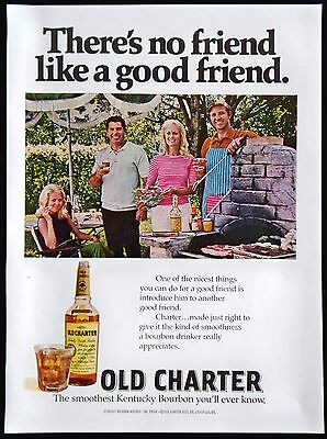 1971 Old Charter Kentucky Straight Bourbon Whiskey Magazine Print Ad Tear Out