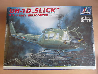 TOP!!! ITALERI 849 UH-1D Slick U.S. Army Helicopter 1:48 OVP!!!