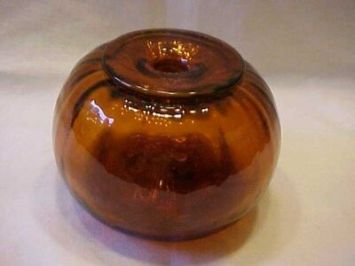 Blown Replica Amber Inkwell / Hale Farm Village Ohio / 1992