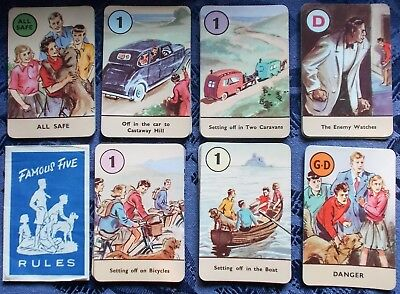 Vintage Playing Cards -- Pepys  Famous Five Game  c.1950s