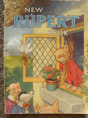 vintage original 1940s the new rupert book; rupert on coon island, and rastas et