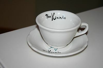 VTG The Kinnic Wisconsin Jackson China Restaurant Ware Coffee Cup and Saucer VGC