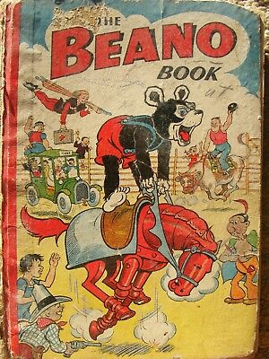 vintage original 1930/40s the beano book; biffo the bear,sinbad,peter piper,sly