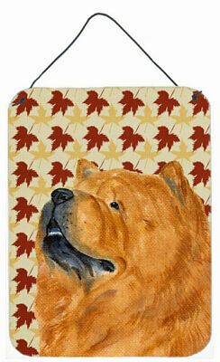 Chow Chow Fall Leaves Portrait by Suzanne Staines Painting Print Plaque