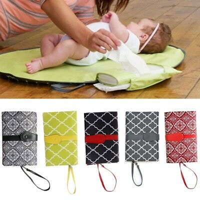 Baby Nappy Bag Diaper Changing Change Clutch Mat Foldable Pad Handbag-Wallet HOT