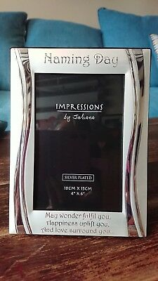 """Cute 4""""x 6"""" Naming Ceremony Picture Frame - Great Gift!"""