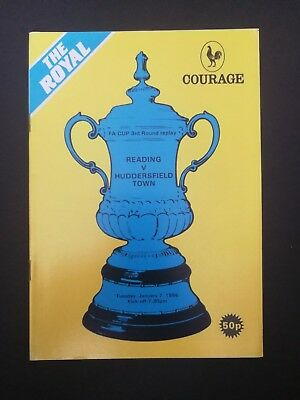 READING 1985/86 v Huddersfield Town (FA Cup 3 Replay)