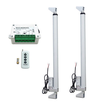 "2PCs 12"" 18"" Linear Actuator 12V 1500N + Brackets + Controller Electric Motor"