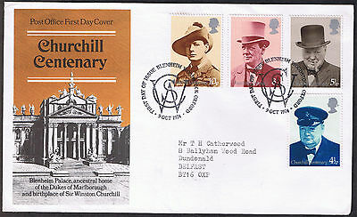 Churchill Centenary - First Day Cover 1974 -  stamps SG962 to SG965