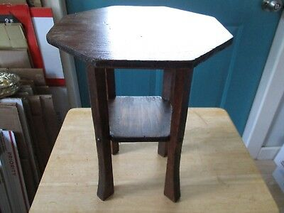 Small Vintage Wooden Child Sized Table Short Plant Stand