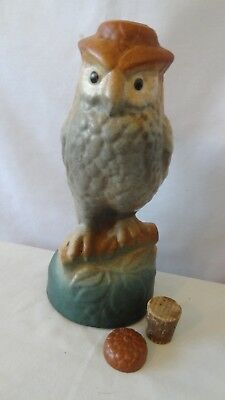 "Brush McCoy Pottery RARE 1927 to 1932 Owl Decanter 10/1/2"" Tall  #K147"