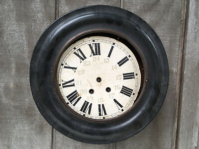 Antique 1855 Japy Fils Wall Clock Round Ebony Case for Parts Repair ML45