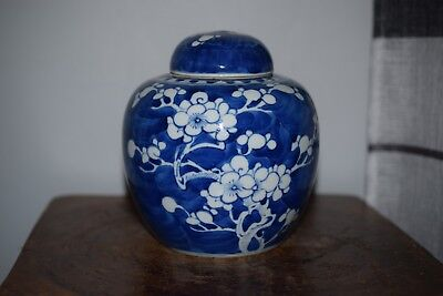 A FINE CHINESE ANTIQUE PRUNUS & HAWTHORN JAR /  VASE-19th