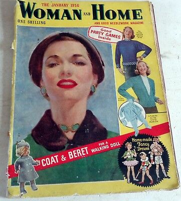 January 1956:  Woman & Home Magazine: Knitting Fiction Fashions: Post  Discount