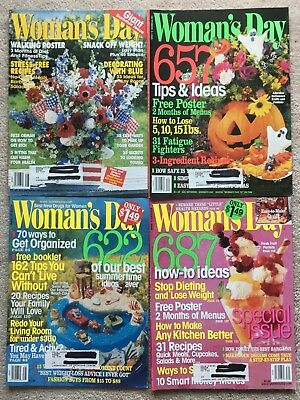 Lot 4 Woman's Day Magazine 1999-2000 2 Summer Issues, How-To, Fall Halloween
