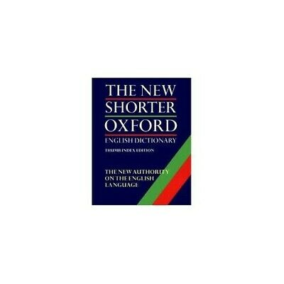 The Shorter Oxford English Dictionary (2 volumes) Hardback Book The Cheap Fast
