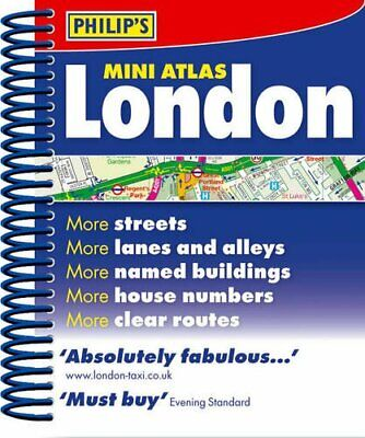 Philip's Mini Atlas London: Spiral (Street Atlases) by VARIOUS Spiral bound The