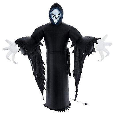 Halloween Haunters 7ft Inflatable Spooky Ghost Reaper LED Yard Prop Decoration