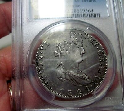 1821 AZ (ZACATECAS) 8 REALES (SILVER) MEXICO --WAR of INDEPENDENCE-- PCGS--