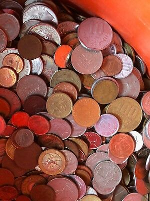 6 Pounds Lbs World Coins Free Shipping Good Mix Many Countries G to BU Lot