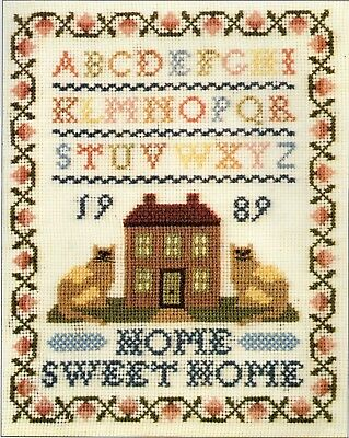 Tapestry/Needlepoint chart. 'Home Sweet Home' cat Sampler