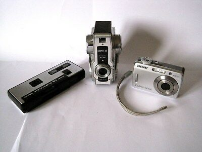 3 x ASSORTED VINTAGE CAMERAS  WORKING BUT SOLD AS ORNAMENTS