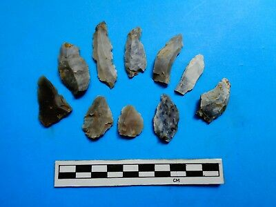 Flint Neolithic Light Arrowheads from south west Wiltshire - Look!