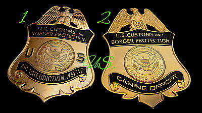 gl/ Collector police badge / choose CBP Air Interdiction Agent OR Canine Officer