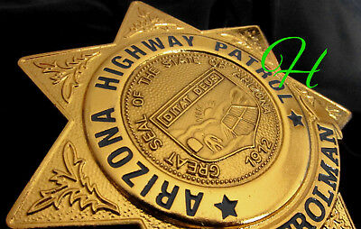 gl/ Collector police badge + Patrolman Arizona Highway Patrol