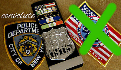 gl/ Collector badge + City of NY Police + 5 citations + holder + 1 patches