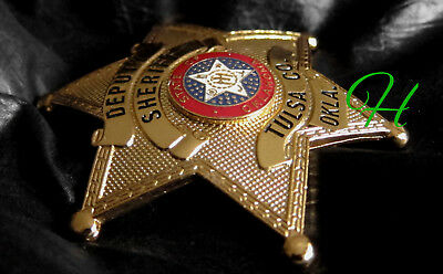 gl/ Historisches police badge + Sheriff Tulsa, State of Oklahoma