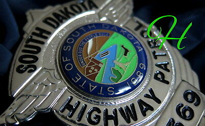 gl/ Historisches police badge + Highway Patrol, South Dakota