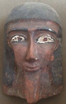 Unusual! Antique Egyptian Folk Wood Carving Pharaoh Hand Carved Painted