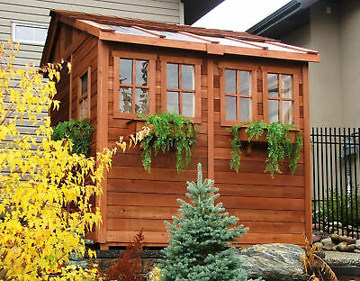 Outdoor Living Today Sunshed 8 ft. x 8 ft. Wooden Storage Shed