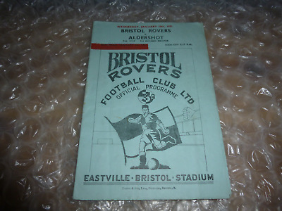Bristol Rovers v Aldershot Wednesday 10th January 1951 FA Cup 3rd Round