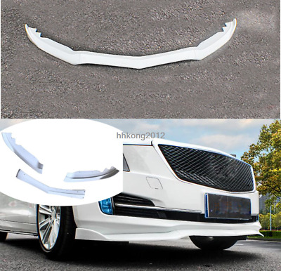 FIT For 2015-2018 Cadillac ATS  ABS Front Bumper Molding Cover Trim White 3PCS
