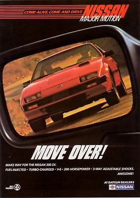 "1985 red Nissan 300 ZX 300ZX photo ""Move Over"" print ad"