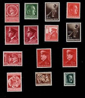 Germany Third Reich Hitler Stamp Collection 1937-44  Mint Hinged GREAT VALUE 6p
