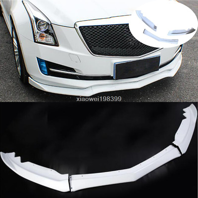 3PCS For Cadillac ATS 2015-2018 ABS Front Bumper Molding Cover Trim White