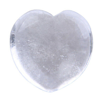 Natural Clear Quartz Crystal Heart Shape Chakra Stone Carved Reiki Healing 1pc