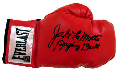 Jake Lamotta The Raging Bull Hand Signed Autographed Boxing Glove With Proof Coa